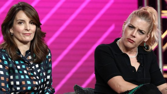 Tina Fey and Busy Philipps attend the Winter TCA Tour