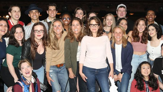 Tina Fey meets the U.S. soccer team backstage at 'Mean Girls' on Broadway