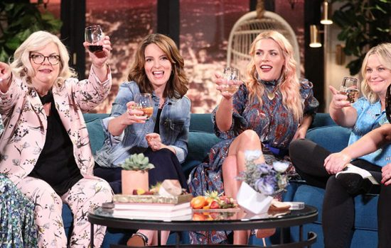 The cast of 'Wine Country' appear on Busy Tonight