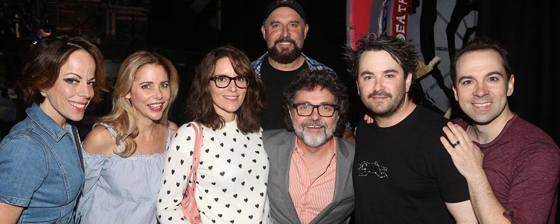 Tina Fey visits the 'Beetlejuice' Musical on Broadway
