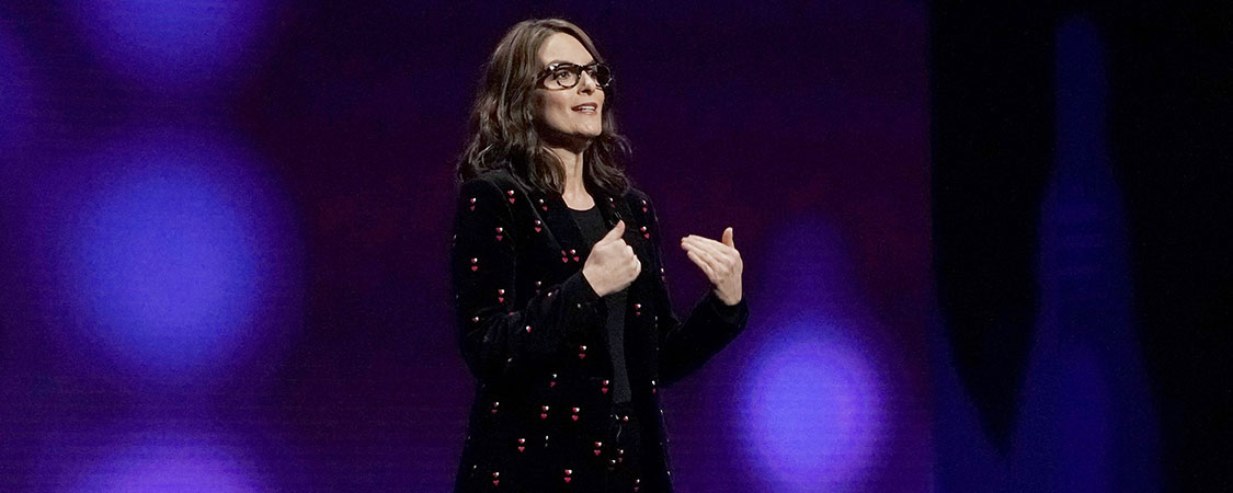 Tina Fey attends Peacock Investor Day