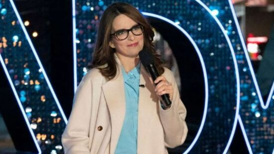 Tina Fey filming the 'One Night Only: The Best of Broadway' Special